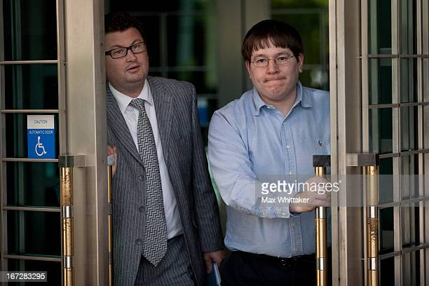 Former Reuters social media editor Matthew Keys leaves the federal courthouse after being arraigned April 23 2013 in Sacramento California Keys was...