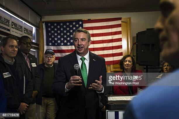 Former RNC chair and White House counselor Ed Gillespie kicks off his campaign for governor of Virginia in Chantilly Virginia Saturday January 14 2017
