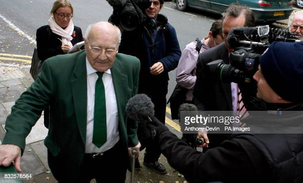 Former Royal British Legion vicechairman Edward Portlock arrives at Gloucester Crown Court to be sentenced after stealing 2228 from members