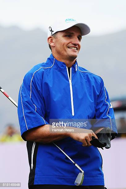 Former rugby league player Ivan Cleary looks on during day four of the 2016 New Zealand Open at The Hills on March 13 2016 in Queenstown New Zealand