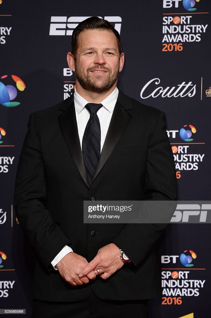 Former rugby player <a gi-track='captionPersonalityLinkClicked' href=/galleries/search?phrase=Lee+Mears&family=editorial&specificpeople=227350 ng-click='$event.stopPropagation()'>Lee Mears</a> poses on the red carpet at the BT Sport Industry Awards 2016 at Battersea Evolution on April 28, 2016 in London, England. The BT Sport Industry Awards is the most prestigious commercial sports awards ceremony in Europe, where over 1750 of the industry's key decision-makers mix with high profile sporting celebrities for the most important networking occasion in the sport business calendar.