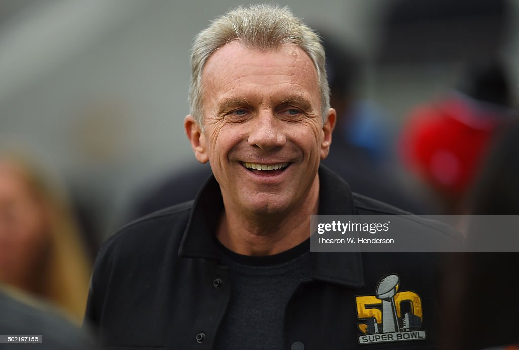 Former San Francisco 49ers quarterback <a gi-track='captionPersonalityLinkClicked' href=/galleries/search?phrase=Joe+Montana&family=editorial&specificpeople=206967 ng-click='$event.stopPropagation()'>Joe Montana</a> looks on from the sidelines during an NFL football game between the Cincinnati Bengals and San Francisco 49ers at Levi's Stadium on December 20, 2015 in Santa Clara, California.
