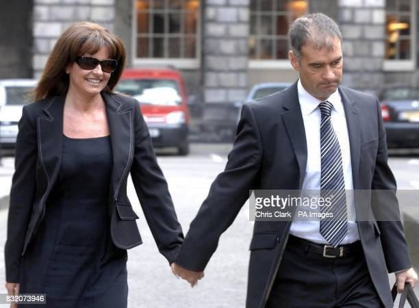 Former Scottish Socialist leader Tommy Sheridan arrives at the Court of Session in Edinburgh for his ongoing 200000 defamation action against the...