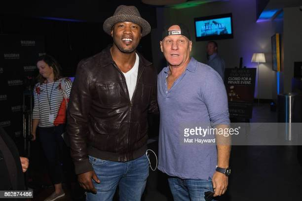 Former Seattle Seahawks football player Lawyer Milloy and fashion designer Steve Madden attend the Seattle premiere of the documentary 'MADDMAN The...
