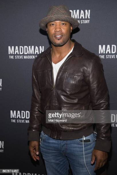 Former Seattle Seahawks football player Lawyer Milloy arrives at the Seattle premiere of the documentary 'MADDMAN The Steve Madden Story' at iPic...