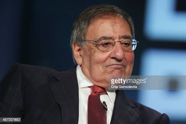 Former Secretary of Defense and director of the Central Intelligence Agency Leon Panetta discuss his new book 'Worthy Fights' during an event in the...