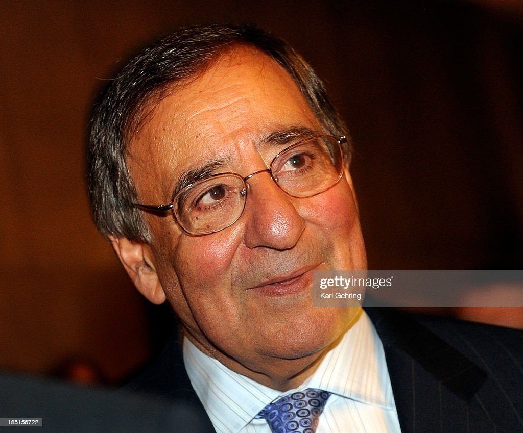 Former Secretary of Defense Leon Panetta was in Denver for a talk about global security sponsored by the Counterterrorism Education Learning Lab Thursday night, October 17, 2013. The sold-out event was held at the Ellie Caulkins Opera House in downtown Denver. Photo By Karl Gehring/The Denver Post via Getty Images