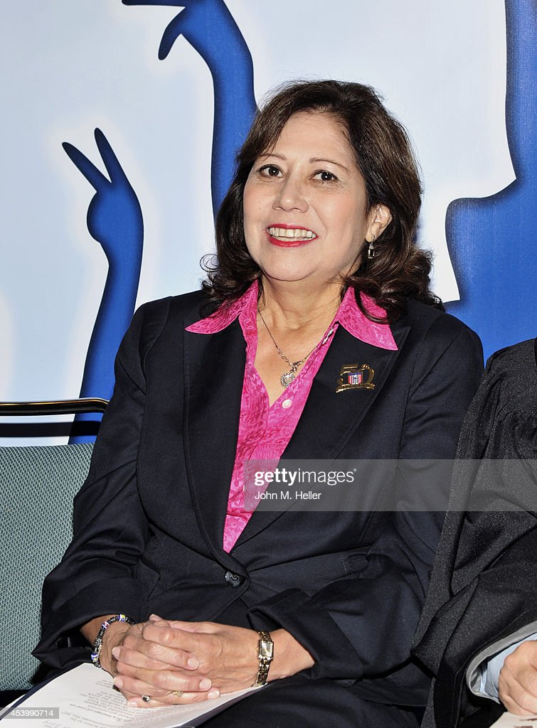 Former Secretary of Labor Hilda L Solis attends the YWCA GLA 2014 Los Angeles Job Corps Commencement at the Los Angeles Convention Center on August...