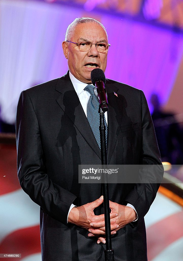 Former Secretary of State <a gi-track='captionPersonalityLinkClicked' href=/galleries/search?phrase=Colin+Powell&family=editorial&specificpeople=118599 ng-click='$event.stopPropagation()'>Colin Powell</a> on stage at the 26th National Memorial Day Concert on May 24, 2015 in Washington, DC.