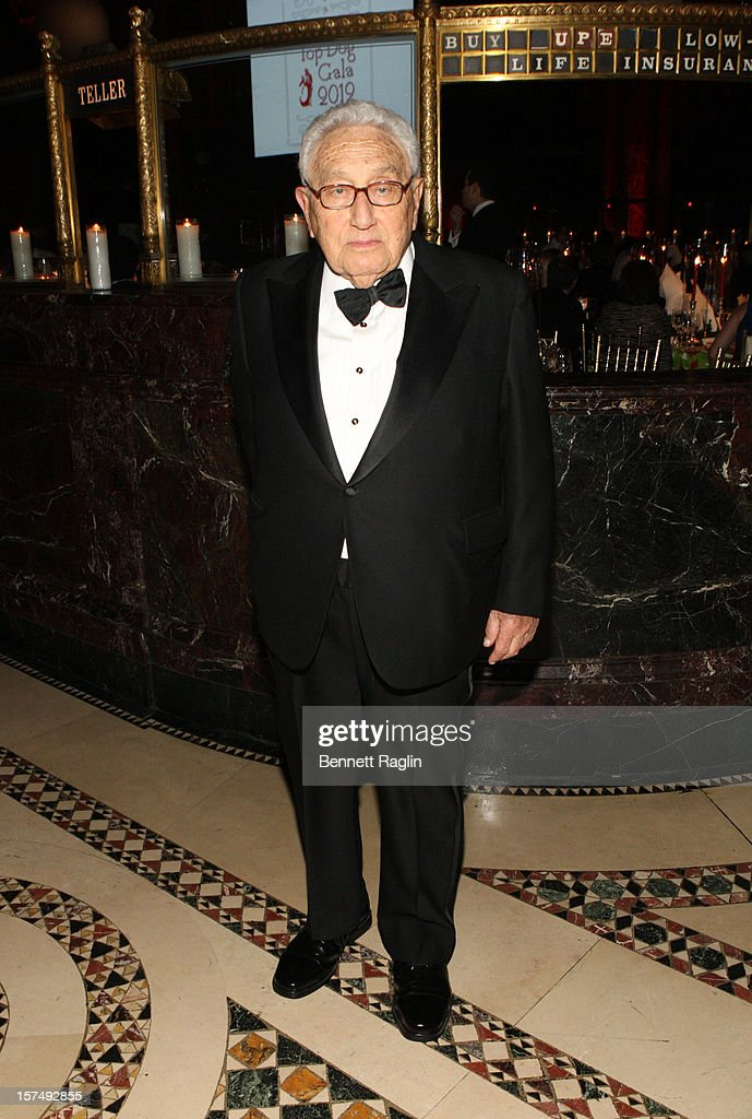 Former Secretary of State Henry Kissinger attends The Animal Medical Center's TOP DOG Gala at Cipriani 42nd Street on December 3, 2012 in New York City.