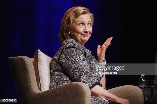 Former Secretary of State Hillary Clinton discusses her new book 'Hard Choices A Memoir' at the Lisner Auditorium on the campus of George Washington...