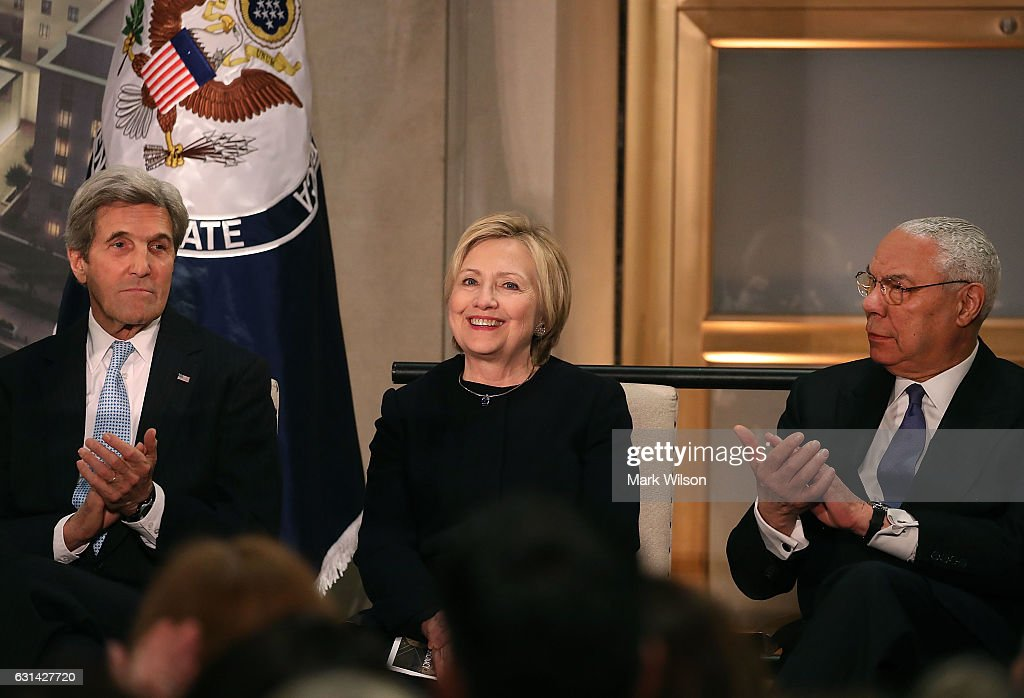 Hillary Clinton Attends State Department Ceremony Naming Section Of Building After Her