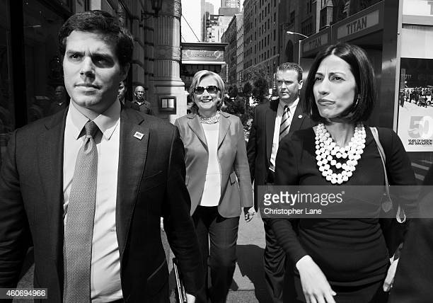 Former Secretary of State Hillary Clinton is photographed with Huma Abedin for Paris Match on June 10 2014 in New York City