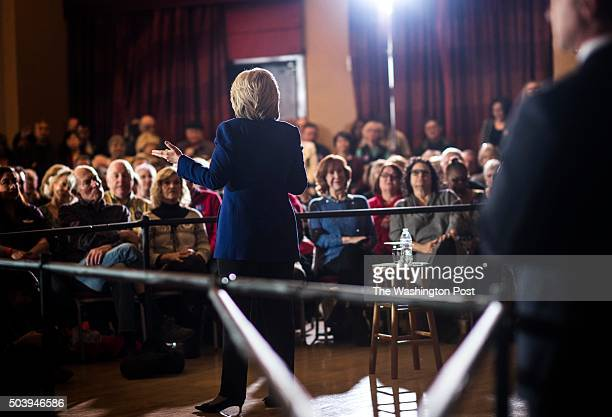 Former Secretary of State Hillary Clinton speaks to a packed room of mostly senior citizens at Sun City Anthem in Henderson Nevada on Wednesday...