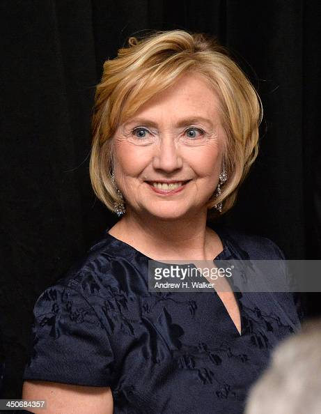 Former Secretary of State Hillary Rodham Clinton attends the Queen Sofia Spanish Institute 2013 Gold Medal Gala at The Waldorf=Astoria on November 19...