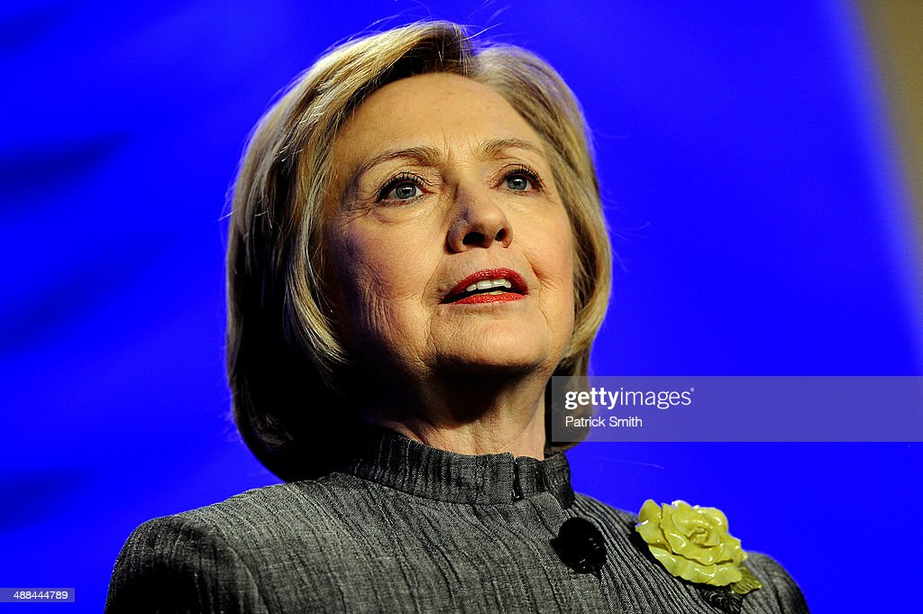 Former Secretary of State Hillary Rodham Clinton delivers remarks during the National Council for Behavioral Health's Annual Conference at the Gaylord National Resort & Convention Center on May 6, 2014 in National Harbor, Maryland. Clinton discussed various topics including mental health and social issues.