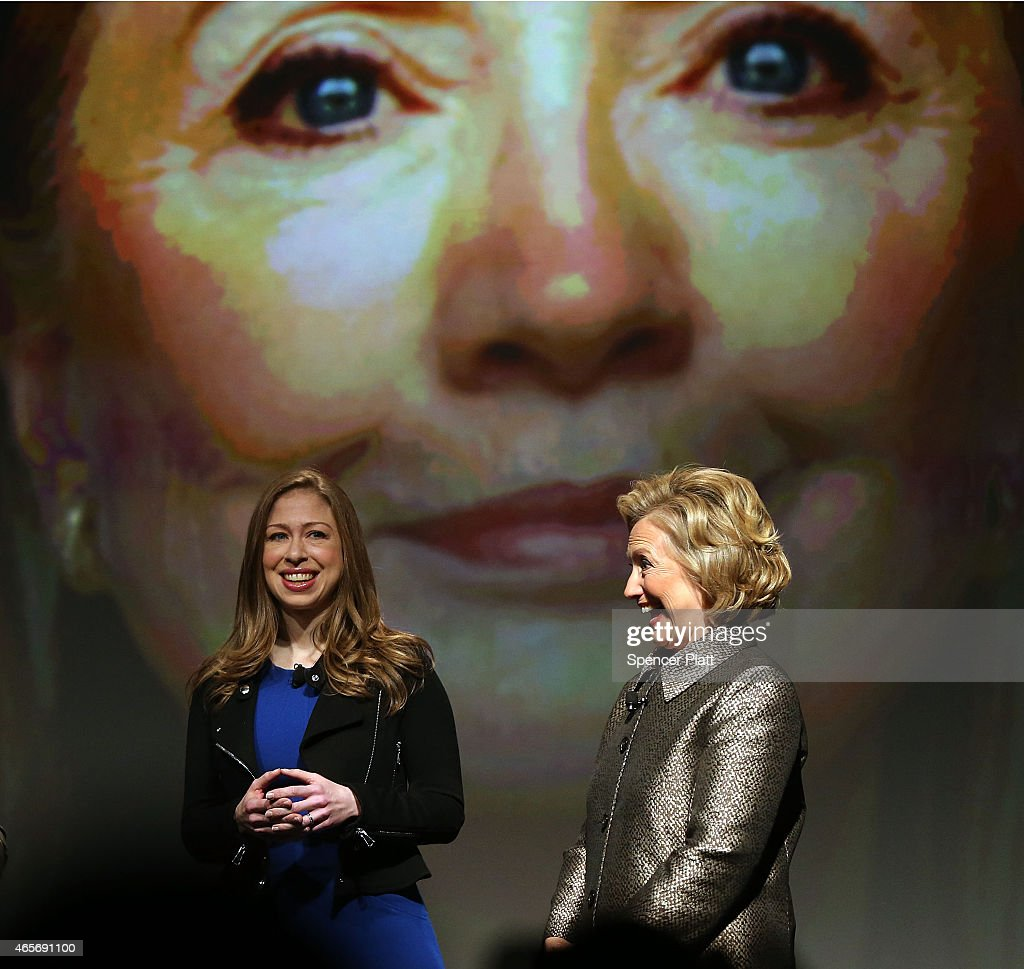 Former Secretary of State Hillary Rodham Clinton joins her daughter and Clinton Foundation Vice Chair Chelsea Clinton for the official release of the No Ceilings Full Participation Report which coincides with the start of the 59th session of the United Nations' Commission on the Status of Women on March 9, 2015 in New York City. Global and community leaders participated in the program which looked to highlight the findings showing 20 years of global data compiled by No Ceilings reveals that there is more to done to achieve Ôfull and equal participationÕ of women and girls worldwide.