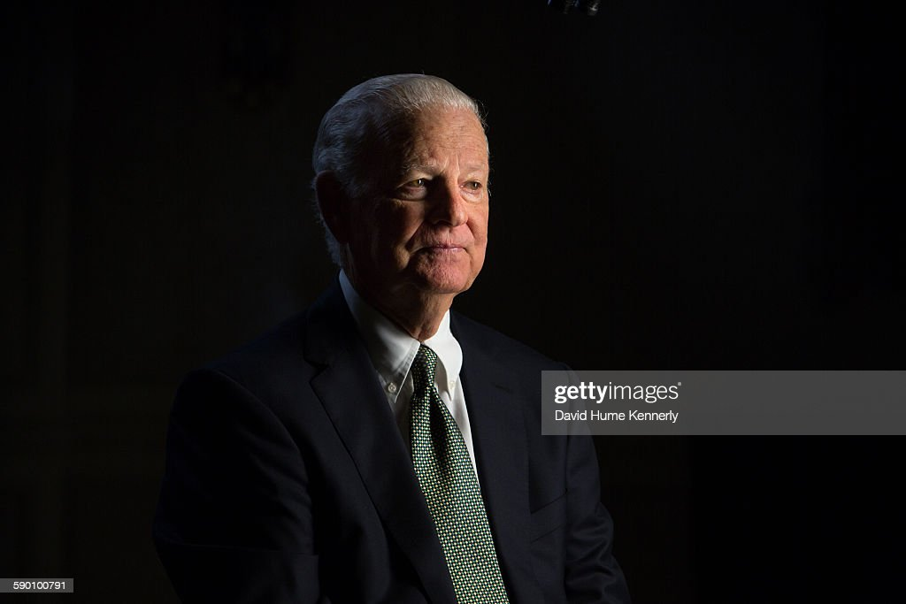 Former Secretary of State James A Baker III is interviewed for Discovery Channel's documentary 'The Presidents' Gatekeepers' by executive producer...