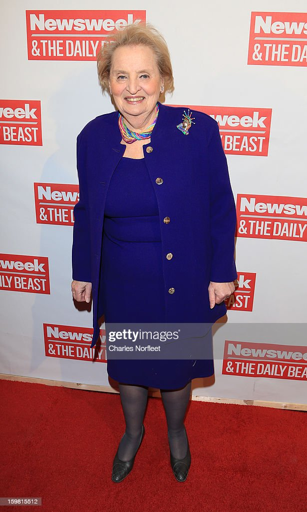 Former Secretary of State <a gi-track='captionPersonalityLinkClicked' href=/galleries/search?phrase=Madeleine+Albright&family=editorial&specificpeople=211429 ng-click='$event.stopPropagation()'>Madeleine Albright</a> attends The Daily Beast Bi-Partisan Inauguration Brunch at Cafe Milano on January 20, 2013 in Washington, DC.