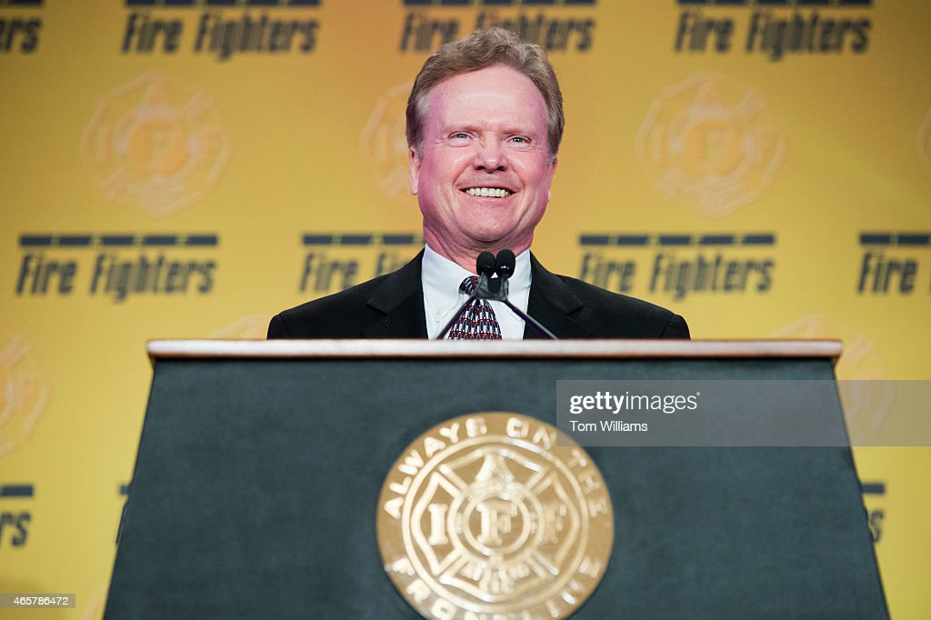 Former Sen. <a gi-track='captionPersonalityLinkClicked' href=/galleries/search?phrase=Jim+Webb&family=editorial&specificpeople=3986302 ng-click='$event.stopPropagation()'>Jim Webb</a>, D-Va., speaks during the IAFF's Presidential Forum at the Hyatt Regency on Capitol Hill, March 10, 2015. The day featured addresses by potential presidential candidates.