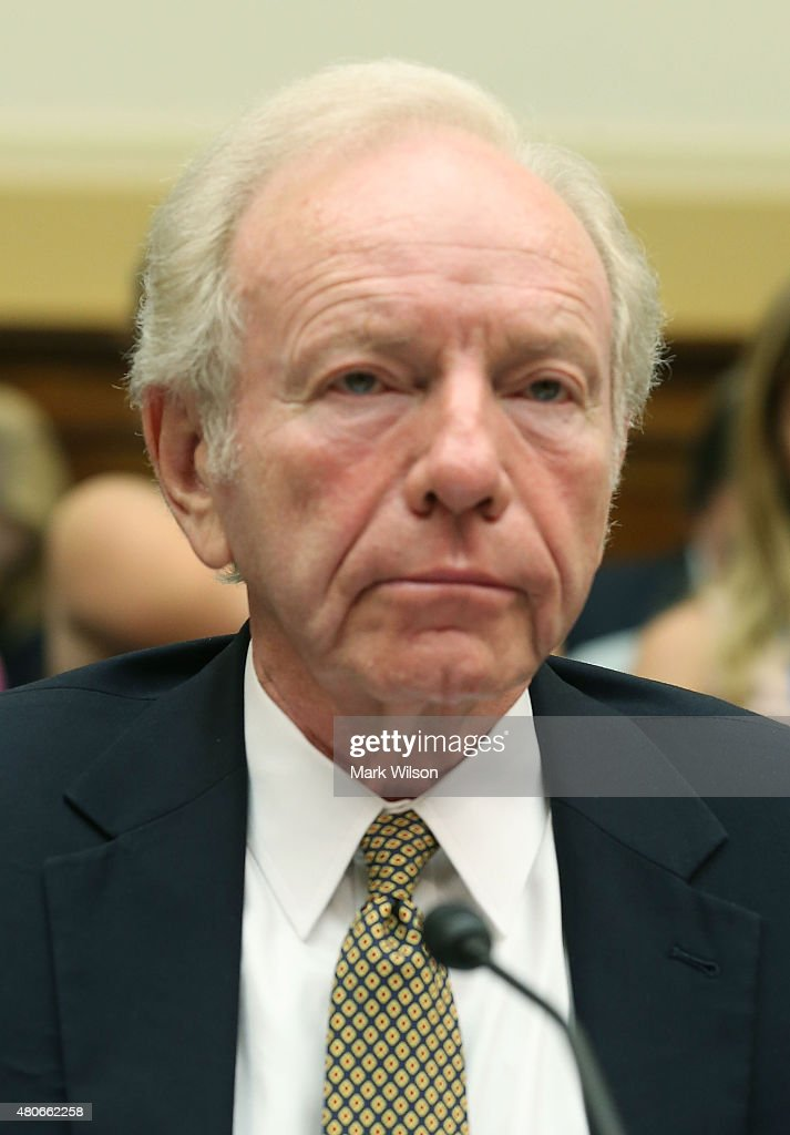 Former Sen Joseph Lieberman cochair of the Foundation for the Defense of Democracies attends a House Foreign Affairs Committee hearing on Capitol...