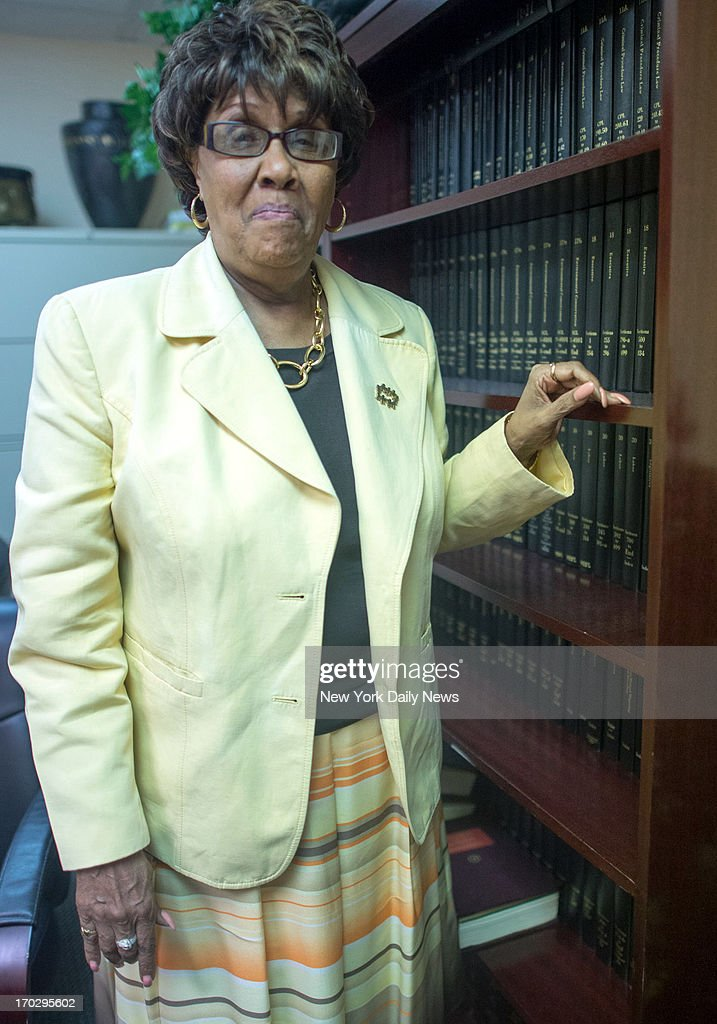 Former Sen. Shirley Huntley at her lawyer Steve Zissou office, talks to The News about her upcoming jail sentence for stealing $88,000 from a taxpayer-funded charity she controlled abd ger work with the feds to tape dirty pols in her by using recording devices hidden in a water bottle and cigarette case.