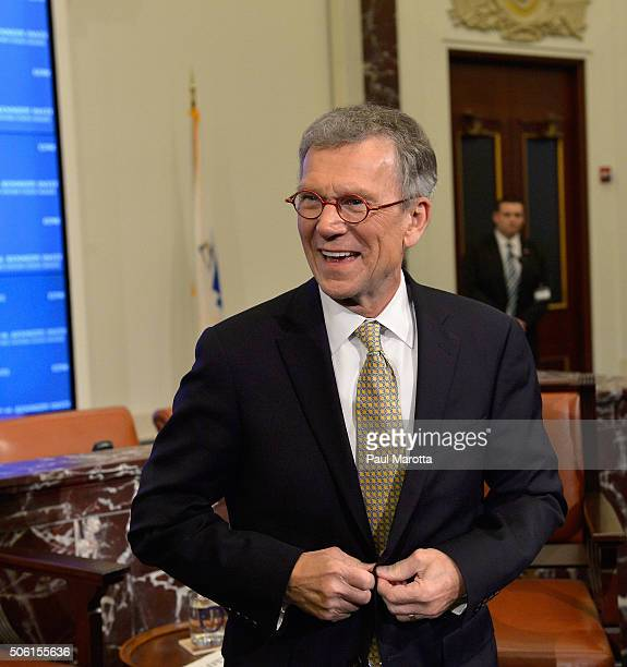 Former Senate Majority Leaders Tom Daschle and Trent Lott discuss their new coauthored book 'Crisis Point' and reaching across the aisle to make the...