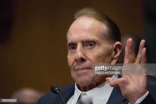Former Senator Bob Dole attends the Senate Finance Committee full hearing on the nomination of the US Trade Representative Robert Lighthizer in...