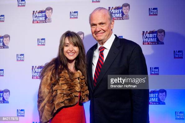 Former senator Fred Thompson and his wife Jeri Thompson pose on the red carpet upon arrival at a salute to FOX News Channel's Brit Hume on January 8...