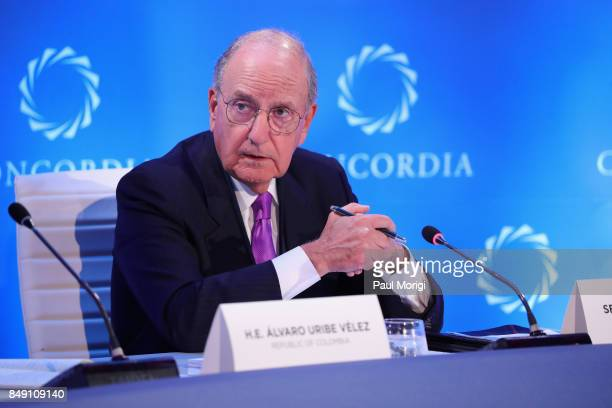 Former Senator George Mitchell Chairman Emeritus DLA Piper speaks at The 2017 Concordia Annual Summit at Grand Hyatt New York on September 18 2017 in...