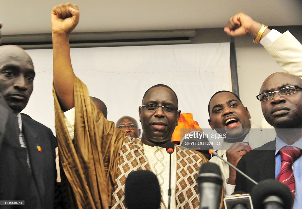 Former Senegalese Prime Minster Macky Sa : Nyhetsfoto