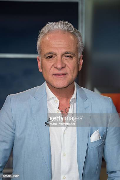 Former singer Nino de Angelo attends the 'Menschen bei Maischberger' TV Show at the WDR Studio on December 02 2014 in Cologne Germany