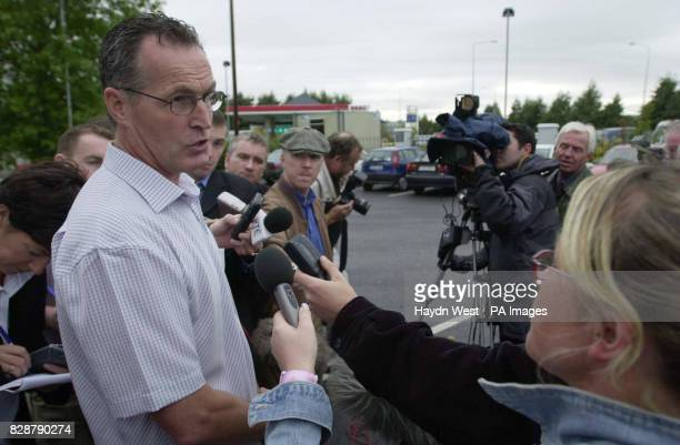 Former Sinn Fein Assembly member Gerry Kelly talks to the media at an event to mark the twentieth anniversary of the biggest breakout in British...