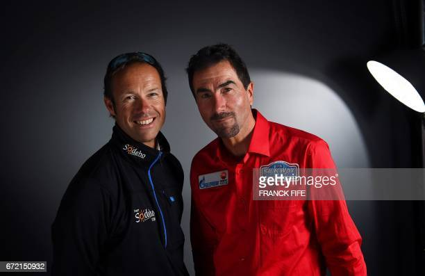 Former ski champion and winner of the Dakar 2006 and sports advisor of the International Silk Way Rally Luc Alphand and Thomas Coville who entered...