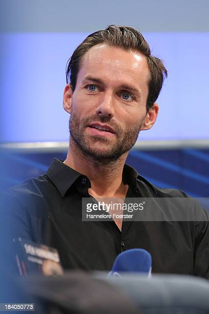 Former ski jumper Sven Hannawald attends the Frankfurt Book Fair on October 11 2013 in Frankfurt am Main Germany This year's fair will be open to the...