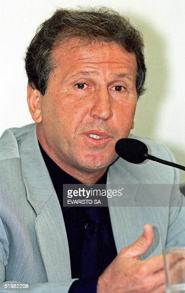 Former soccer player Arthur Antunes Coimbra known as 'Zico' speaks to the Parliamentary Commission of Investigation 24 April 2001 in Brasilla Brazil...