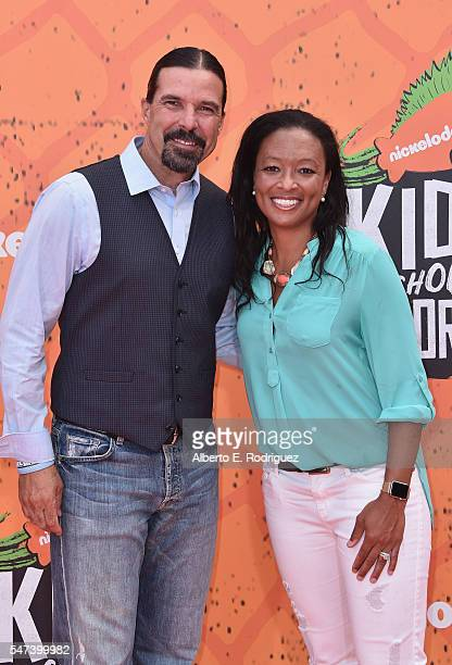 Former soccer player Marcelo Balboa and Angela Hucles attend the Nickelodeon Kids' Choice Sports Awards 2016 at UCLA's Pauley Pavilion on July 14...