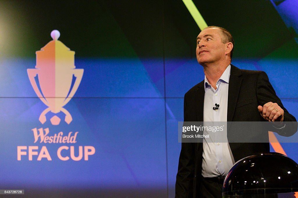 Former Socceroo captain Paul Wade during the FFA Cup round of 32 draw announcement at the FFA Offices on June 30, 2016 in Sydney, Australia.