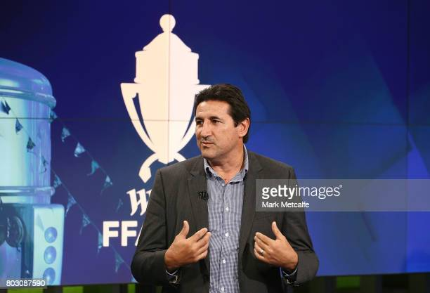 former Socceroos Charlie Yankos takes part in the FFA Cup Round of 32 Official Draw on June 29 2017 in Sydney Australia