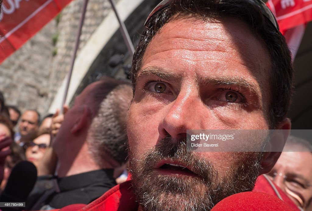Former Societe General Bank trader <a gi-track='captionPersonalityLinkClicked' href=/galleries/search?phrase=Jerome+Kerviel&family=editorial&specificpeople=4840386 ng-click='$event.stopPropagation()'>Jerome Kerviel</a> arrives near the French Border on May 17, 2014 in Ventimiglia, Italy. The former trader is facing three years in prison for his part in one of the biggest banking frauds in history, causing almost with 4.9 billion in losses to his former employer. He must begin his sentence by Sunday or will be officially recognised as a fugitive.