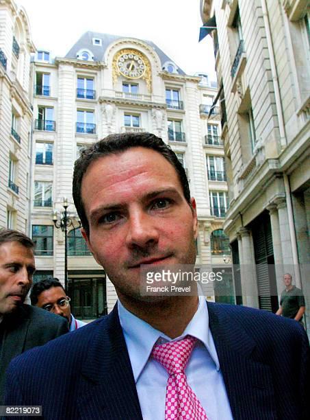 Former Societe Generale trader Jerome Kerviel arrives at the financial police headquarters August 4 2008 in Paris France Kerviel is blamed for the...