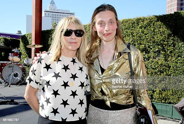 Former Sonic Youth frontwoman Kim Gordon and artist Jutta Koether attend the 'Mike Kelley' Members' Opening at The Geffen Contemporary At MOCA on...