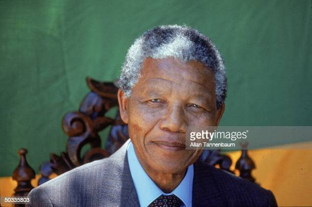 Former South African Pres Nelson Mandela in undated portrait