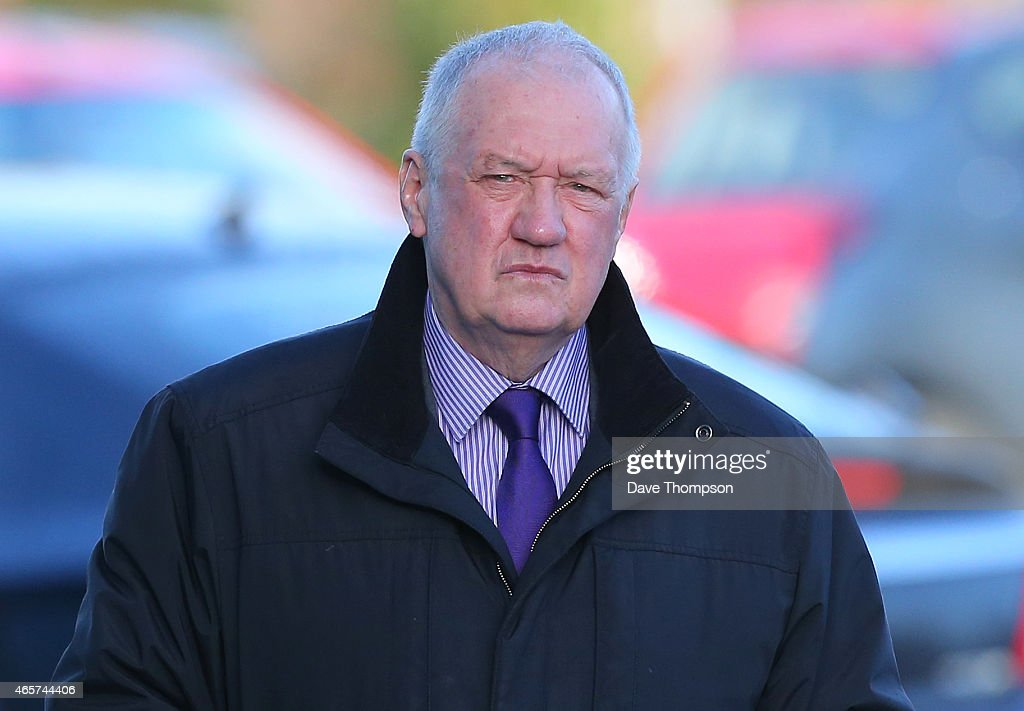 Former South Yorkshire Police Chief <a gi-track='captionPersonalityLinkClicked' href=/galleries/search?phrase=David+Duckenfield&family=editorial&specificpeople=11883610 ng-click='$event.stopPropagation()'>David Duckenfield</a> arrives to give evidence at the Hillsborough Inquest at the specially adapted office building in Birchwood Park on March 10, 2015 in Warrington, England. Mr Duckenfield, who was a chief superintendent in South Yorkshire Police in 1989, was the match commander on the day of the FA Cup semi-final where 96 Liverpool fans died on April 15, 1989. He will attend the Hillsborough Inquests from today until March 14.