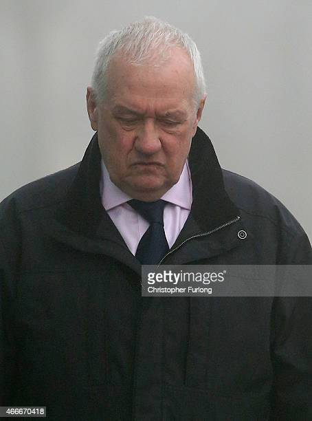 Former South Yorkshire Police Chief David Duckenfield arrives to give evidence at the Hillsborough Inquest at the specially adapted office building...