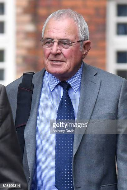 Former South Yorkshire Police chief superintendent Donald Denton arrives at Warrington Magistrates Court on August 9 2017 in Warrington England Six...