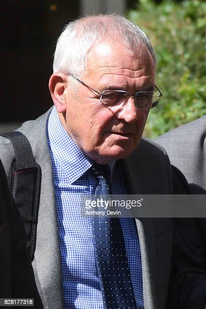 Former South Yorkshire Police chief superintendent Donald Denton leaves Warrington Magistrates Court on August 9 2017 in Warrington England Six...