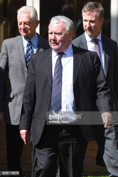 Former South Yorkshire Police solicitor Peter Metcalf leaves Warrington Magistrates Court on August 9 2017 in Warrington England Six individuals are...