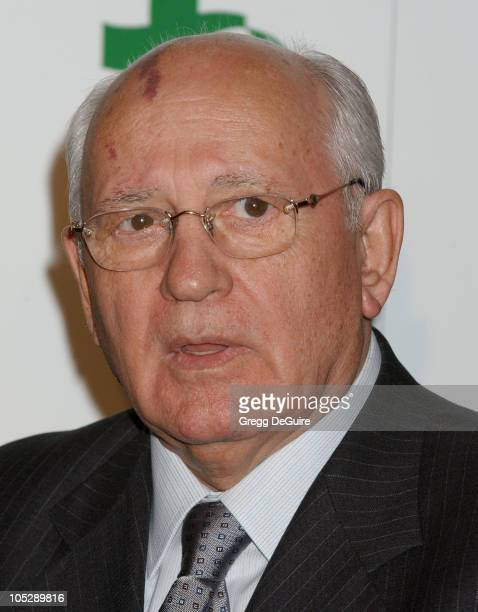Former Soviet Premier Mikhail S Gorbachev during 8th Annual Green Cross Millennium Awards at St Regis Hotel in Los Angeles California United States