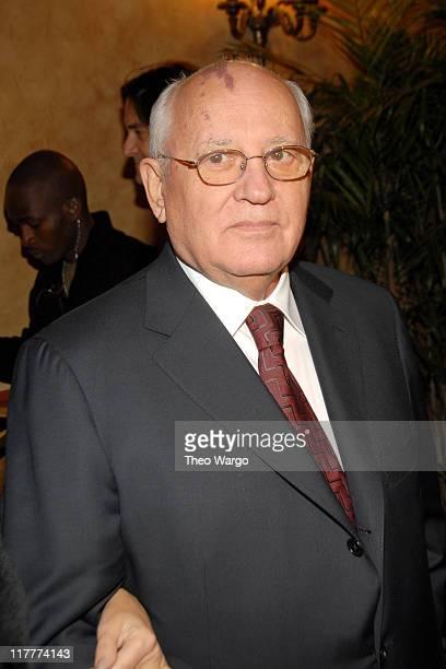 Former Soviet President Mikhail Gorbachev during The 2006 Women's World Awards Inside Arrivals at The Hammerstein Ballroom in New York City New York...